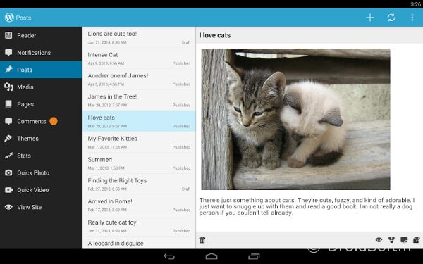 wordpress 3 apk android