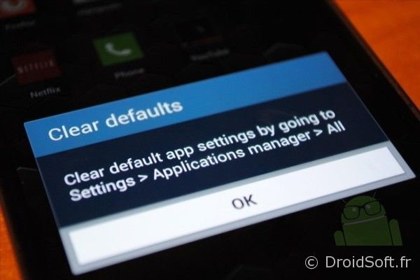 android supprimer app