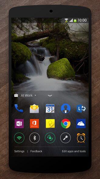 next lock screen android microsoft