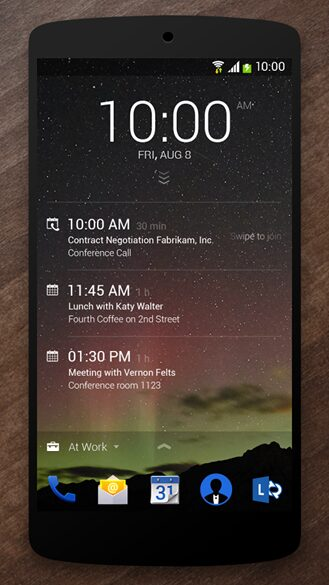 next lock screen android