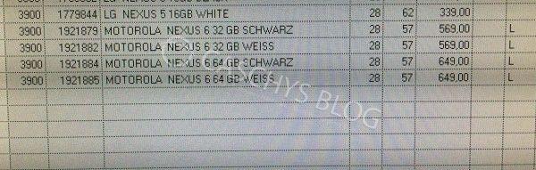 Nexus 6 prix