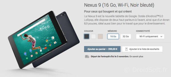 nexus 9 pas cher