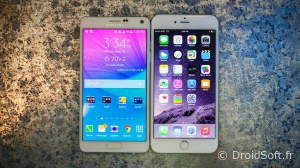note 4 iphone 6 plus