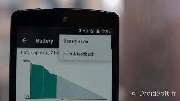 android 5 batterie economie energie tuto
