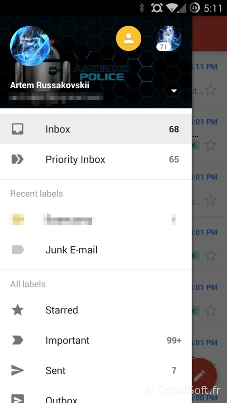 android police gmail