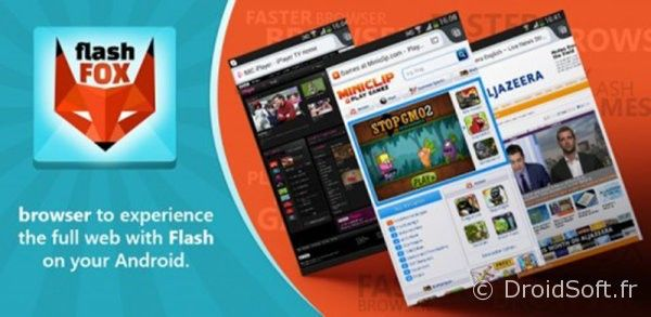 flash fox navigateur android avec adode flash