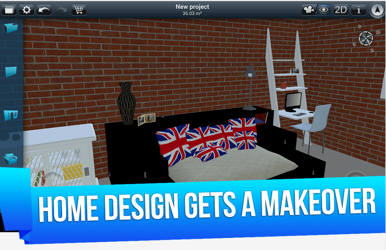 Home design 3d d barque sur android Home design android