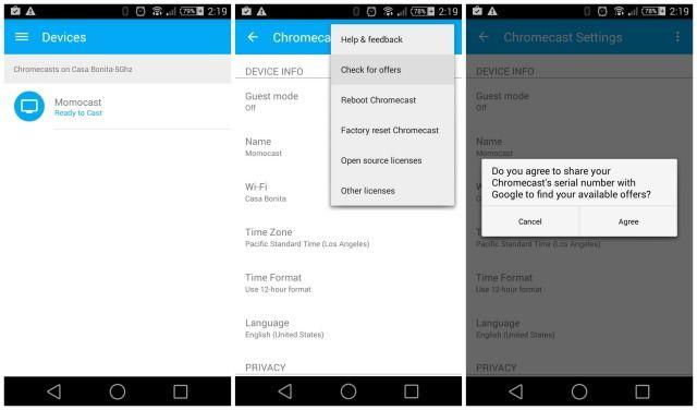 chromecast, Google offre des cadeaux de Noël pour les utilisateurs de Chromecast