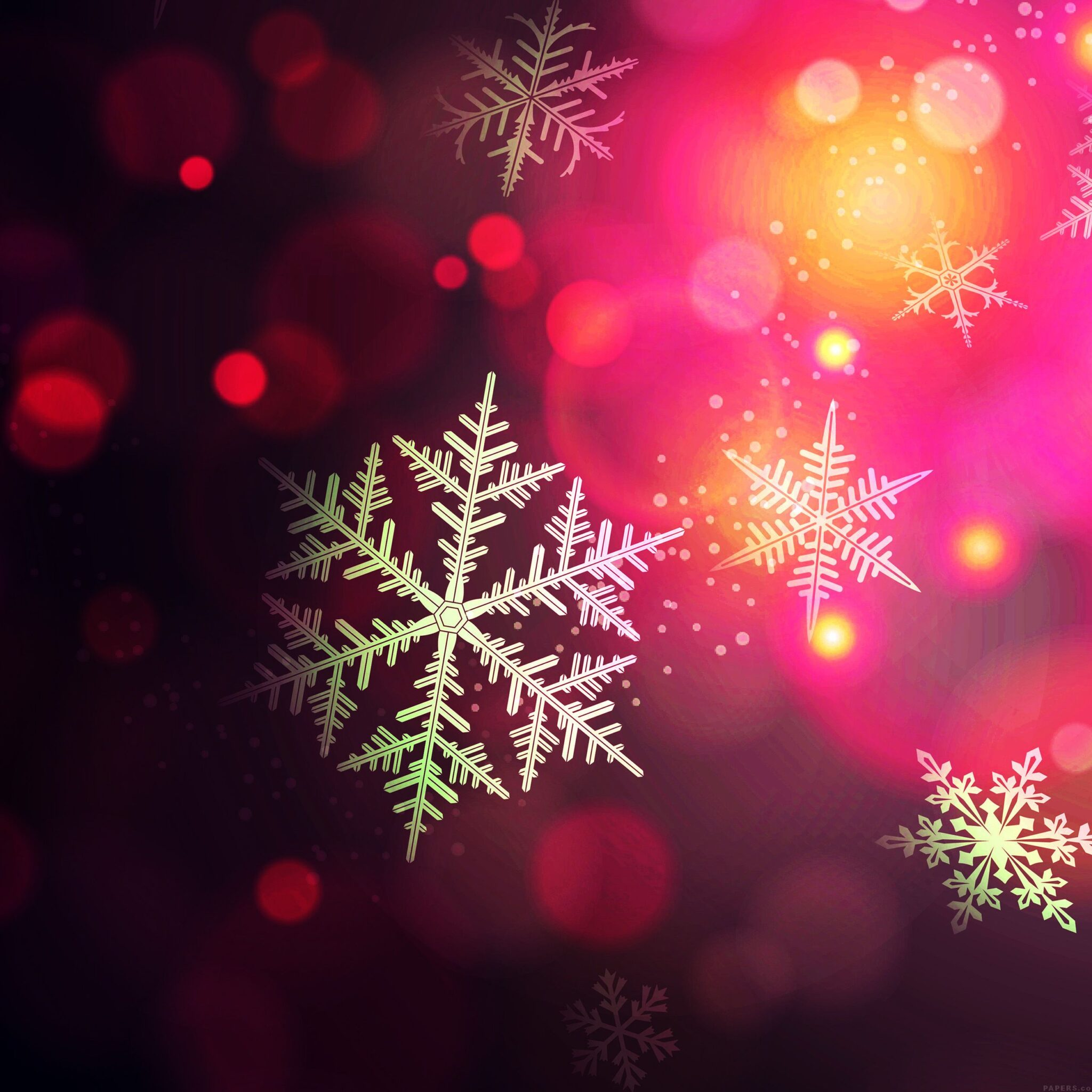 red snowflake iphone wallpaper