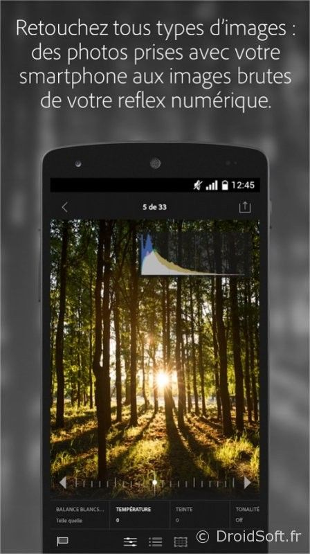 Adobe Lightroom android gratuit