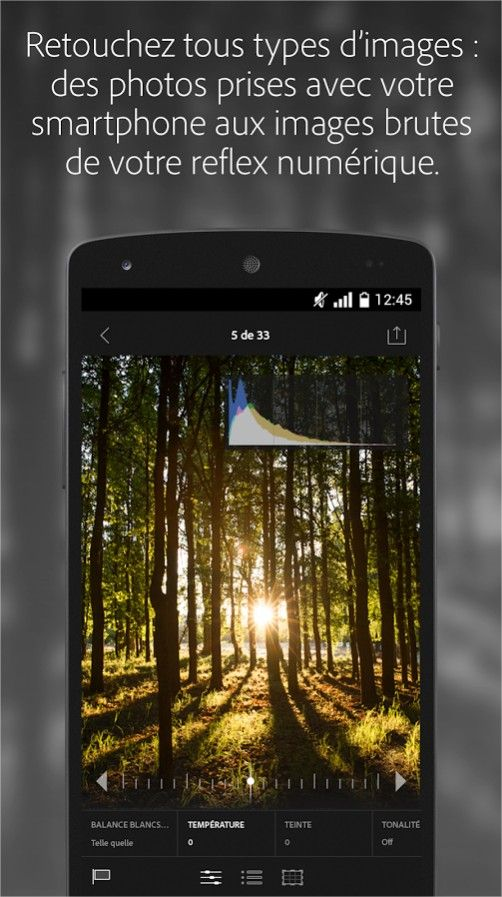 lightroom gratuit android