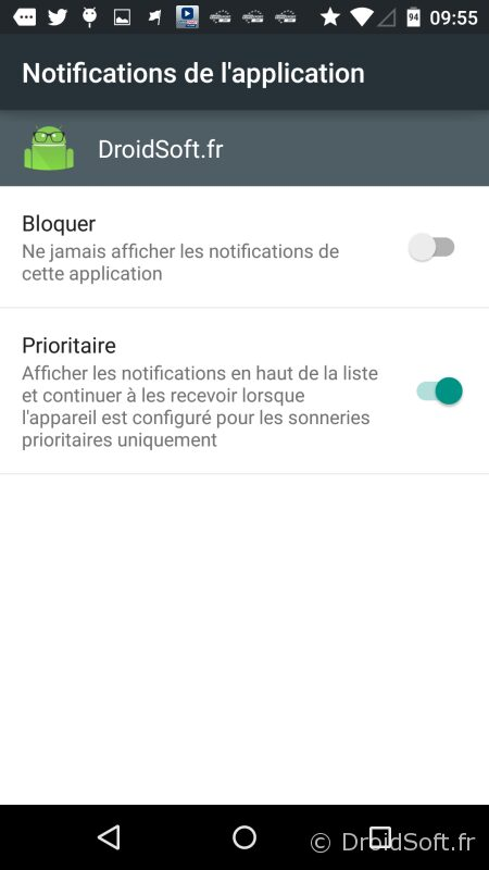 bloquer notif android 5