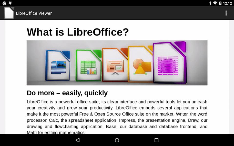 Openoffice Propose Gratuitement Libreoffice Sur Android