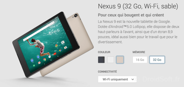nexus 9 or sable
