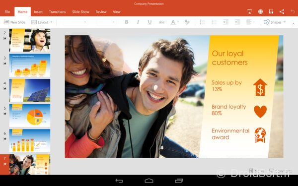 powerpoint gratuit android word excel