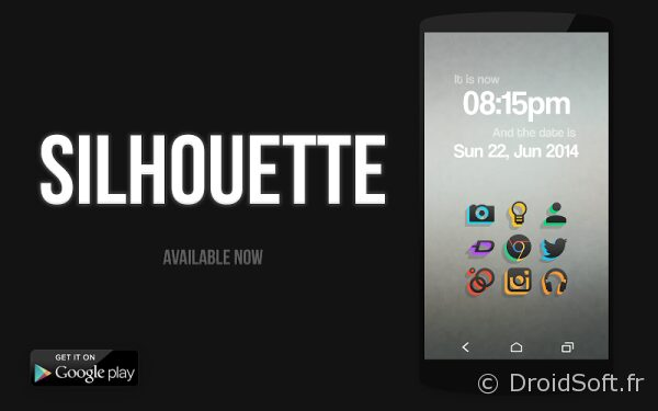 silhouette icons android gratuit