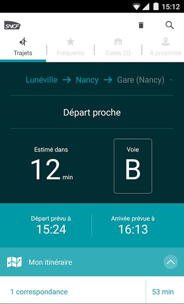 sncf app android