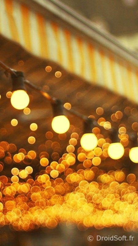 wallpaper nuit jaune smartphone