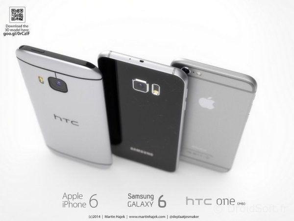 iphone 6 htc one m9 2
