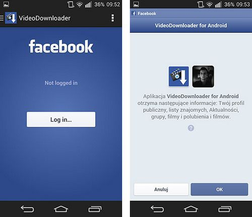 video facebook android