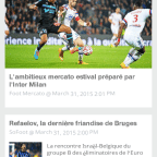 Foot Reader, Foot Reader 3.0 sur Android : nouvelle interface Material Design
