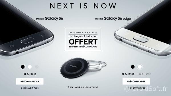 galaxy S6 commande prix