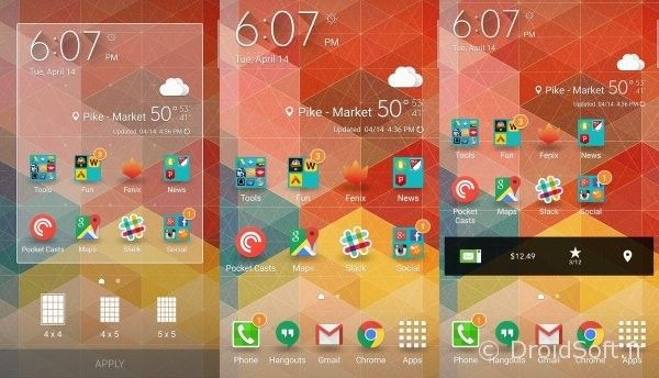 galaxy s6 changer taille des icones