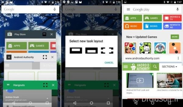 android m multi fenetre