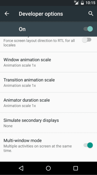 android-m multi fenetres