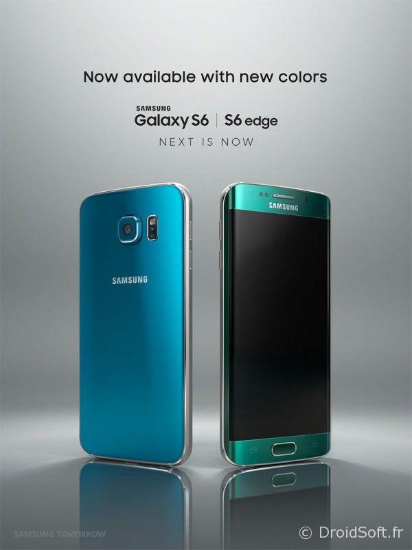 galaxy S6 vert et bleu