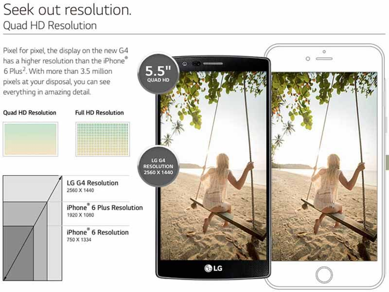 lg g4 meilleure ecran iphone 6 plus