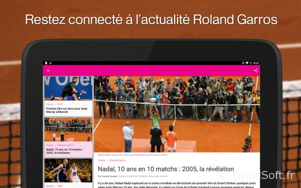 rg 2015 france tv android