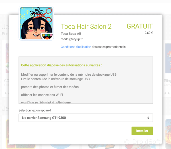toca hair salon 2 gratuit