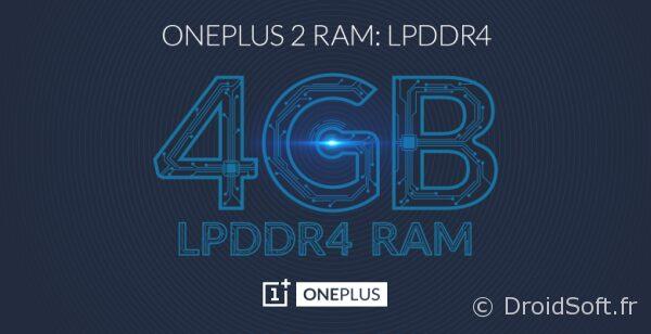 oneplus 2 4Go de RAM