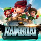 Ramboat, Ramboat sur Android : Rambo est sur un bateau, les ennemis tombent à l'eau