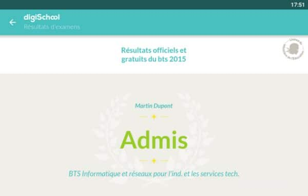 resultat bac 2015 android