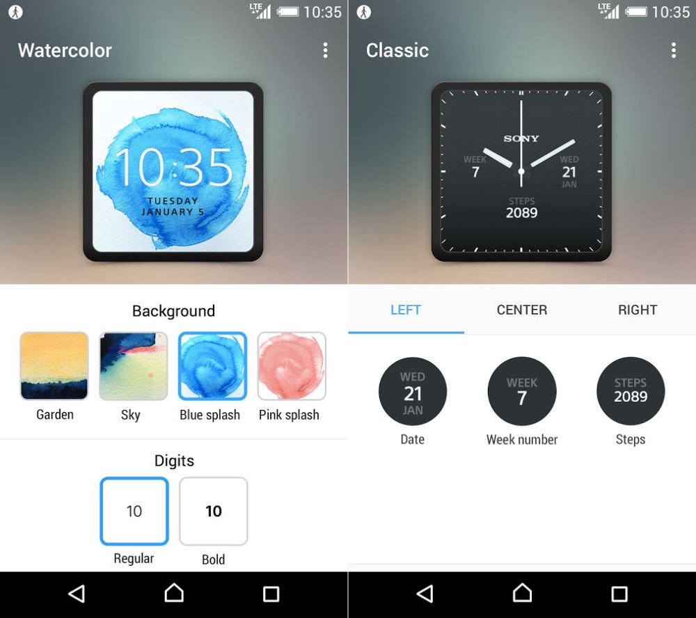 smartwatch 3 application compagnon