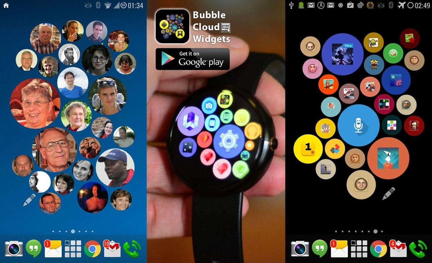 Bubble cloud widget