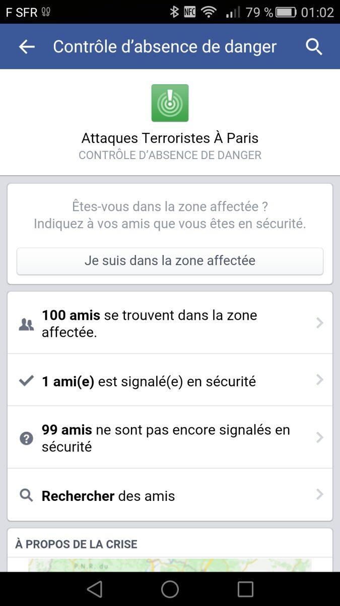 Attaques à Paris, Attaques à Paris : Facebook vous permet de savoir si vos amis sont en sécurité