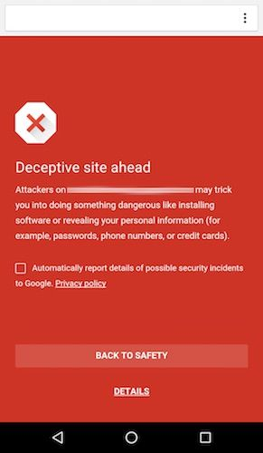 Chrome-Android-Safe-Browsing