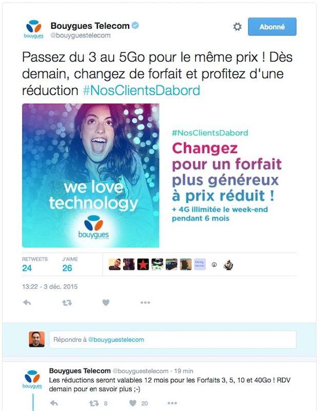 bouygues promo twitter noel 2015