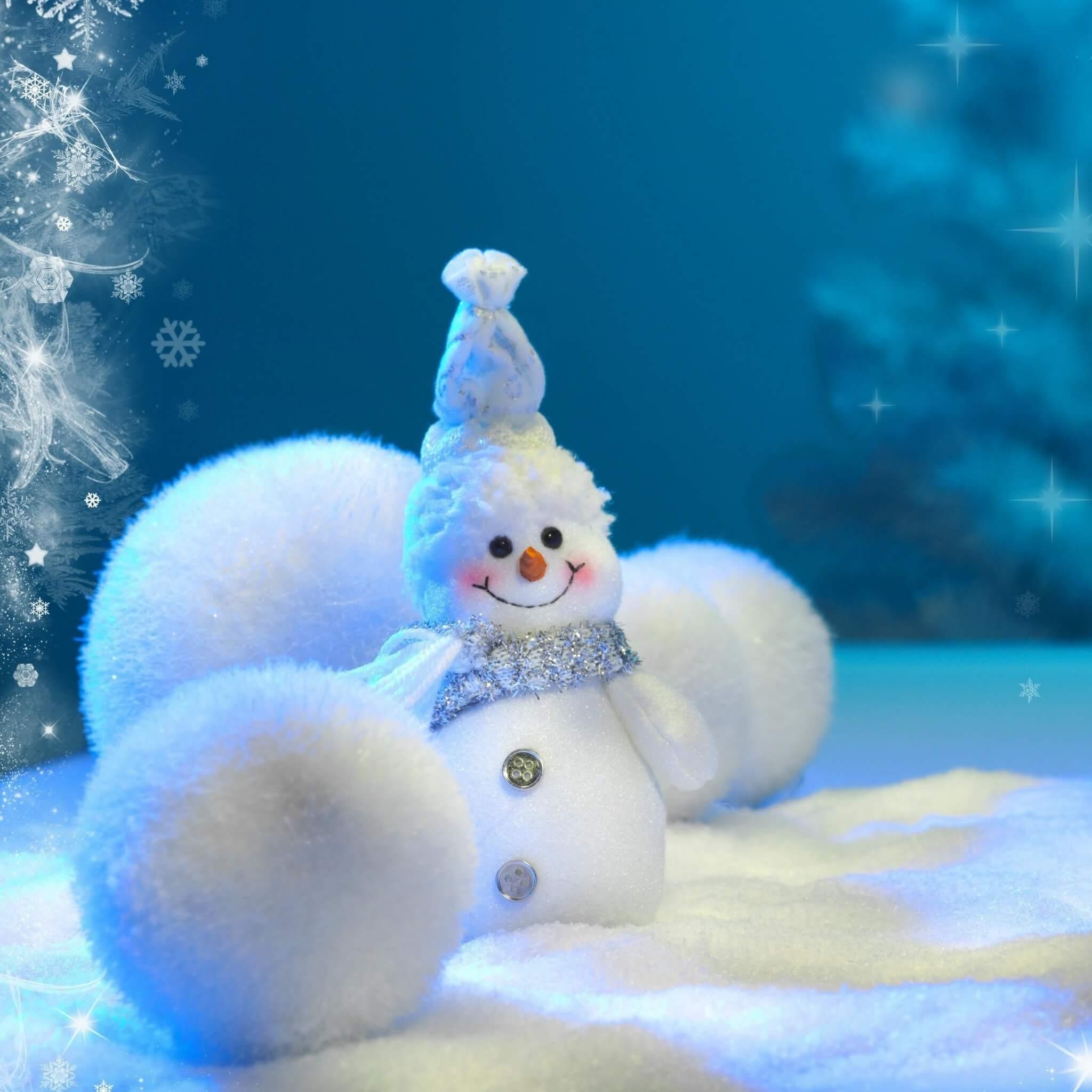 pompons bonhomme de neige