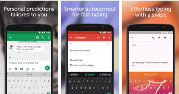 screenshot  Super développeur SwiftKey Keyboard
