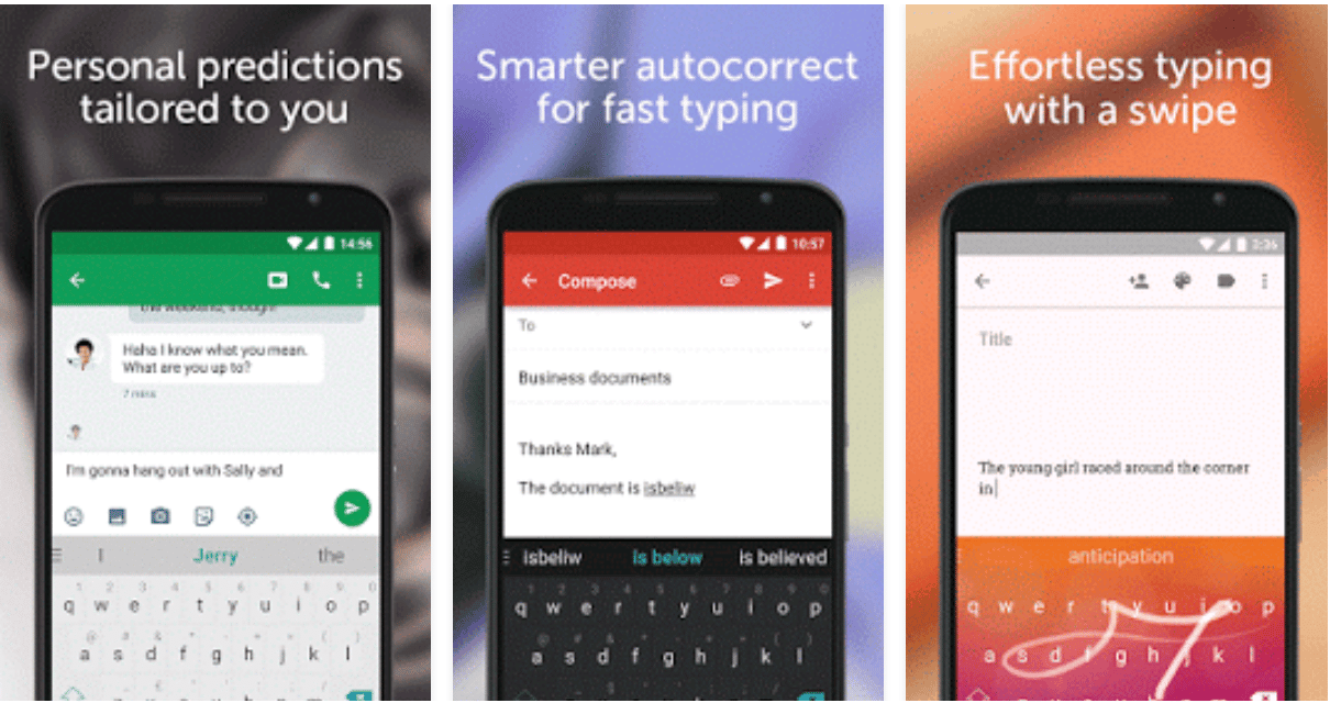 screenshot  Super développeur SwiftKey Keyboard