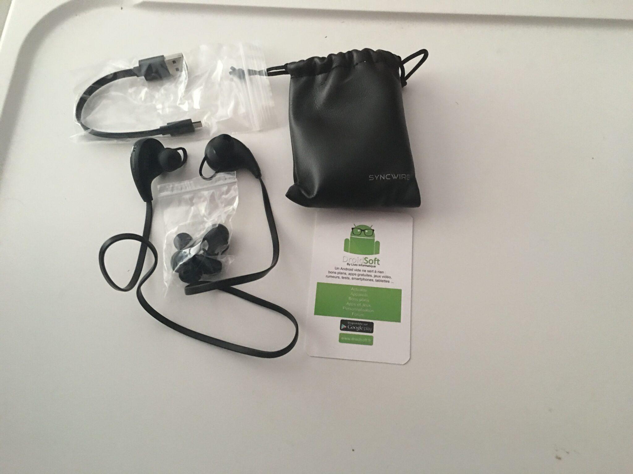 Test des écouteurs Bluetooth Sport Syncwire 6