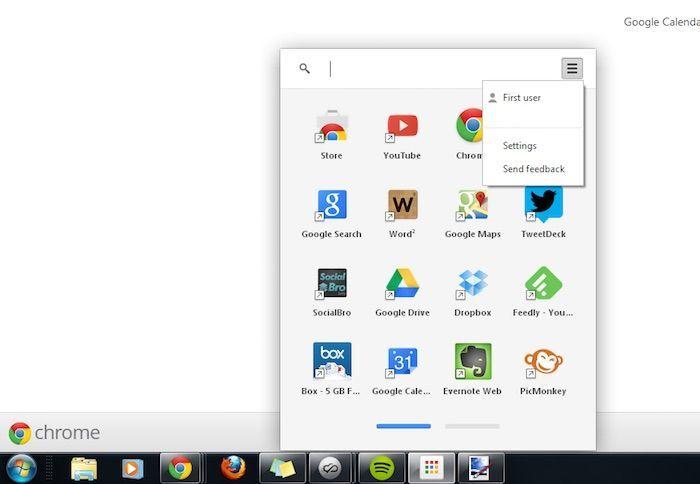 Lanceur-Applications-Chrome