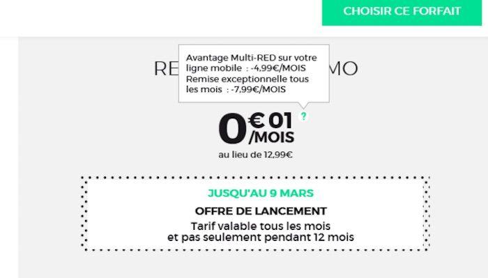 Bon plan forfait sfr red avec appels sms mms illimit s for 500 mo internet