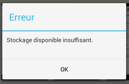 android samsung stockage espace insuffisant
