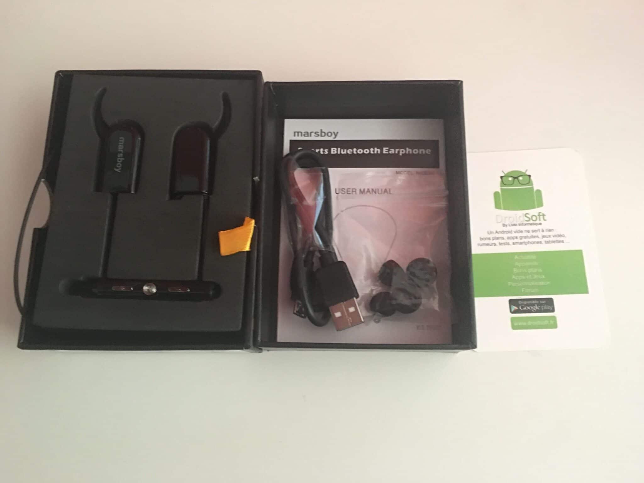 , Test des écouteurs Marsboy intra auriculaire Bluetooth 4.0