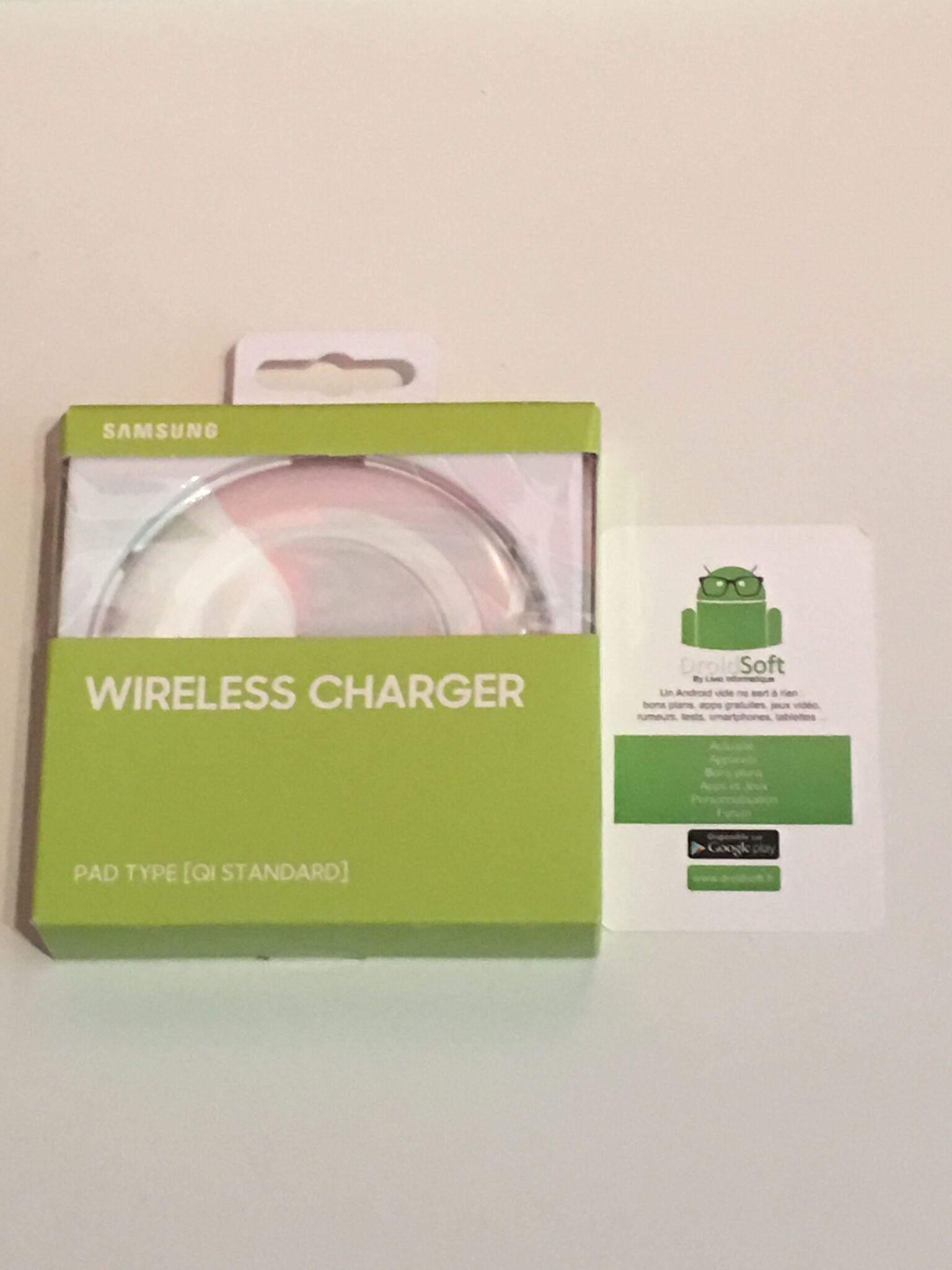 Plaque de chargement Samsung Sans Fil Qi - Blanche